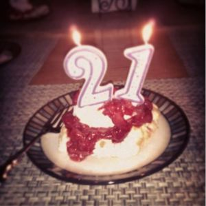 Birthday strawberry shortcake made by my lovely mother. Thanks, Mom <3